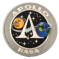 "NASA Apollo Program Patch 4"" New Version"
